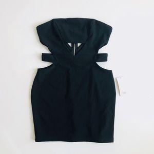 TOBI Strapless Black Mini Dress Size Medium